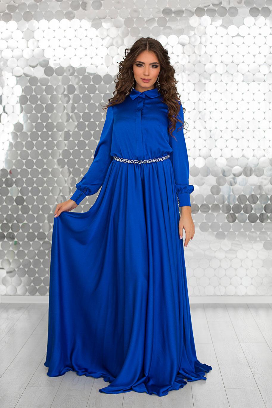 650f7860b42 Купить платье-рубашка Linda Blue на выпускной