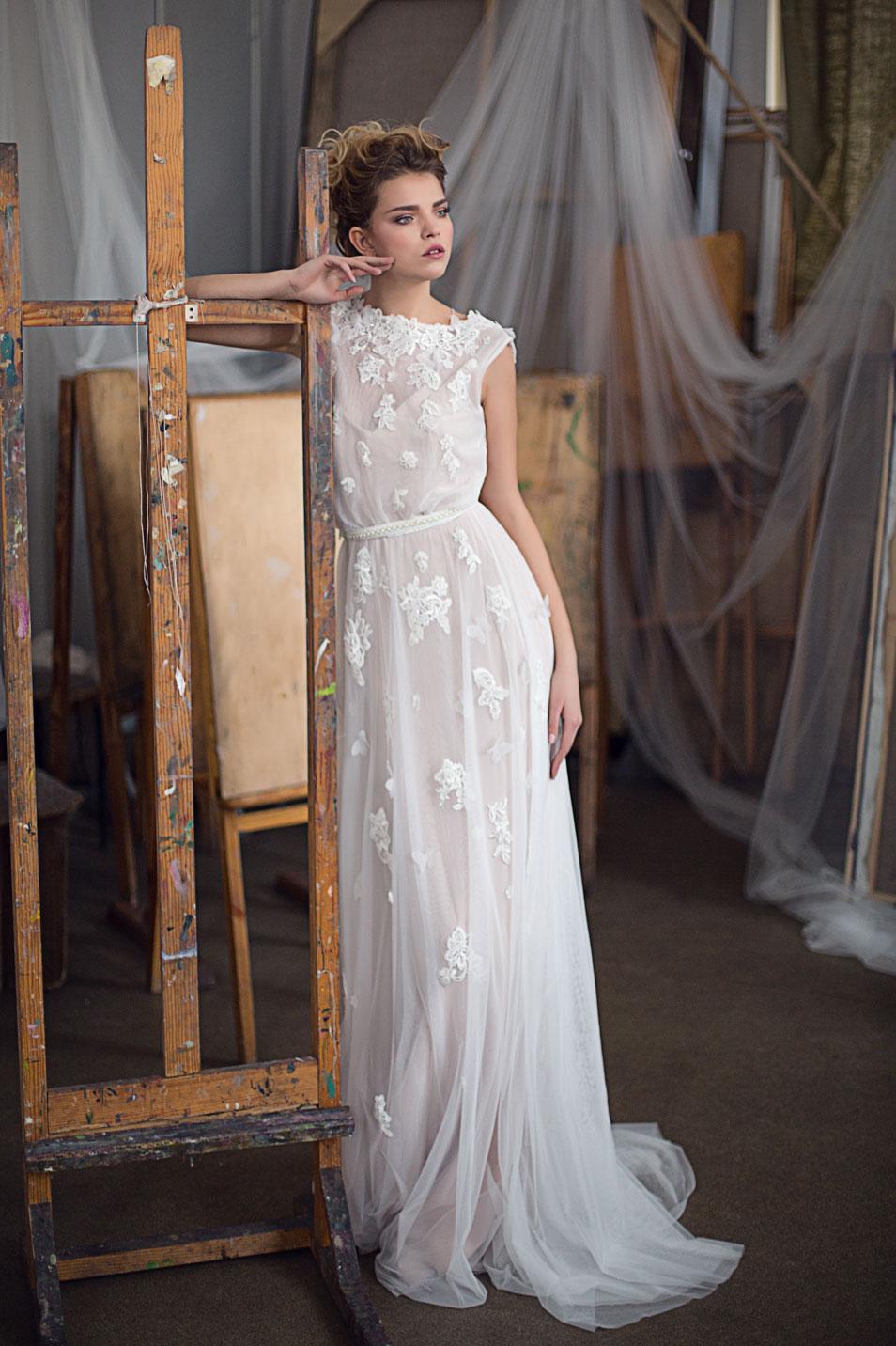 c5c3bd13c13 Свадебные платья в стиле Бохо из элит-сетки и шелка Konstanta ...