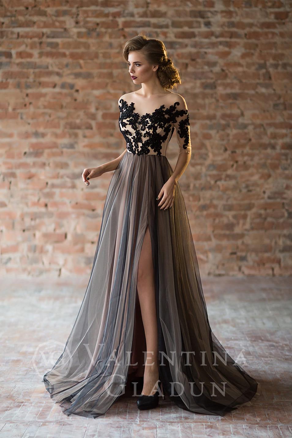 415532d254635bf Купить красивое вечернее платье с разрезом Lacette: цена, фото ...