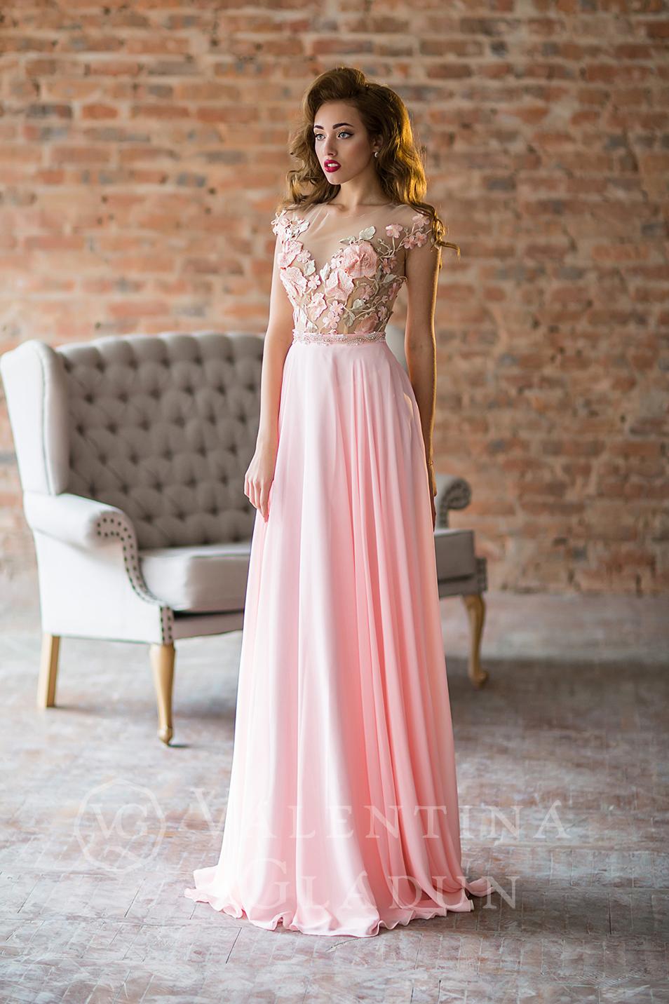 fedffe55106 Купить красивое розовое вечернее платье на выпускной Fontella Rose ...