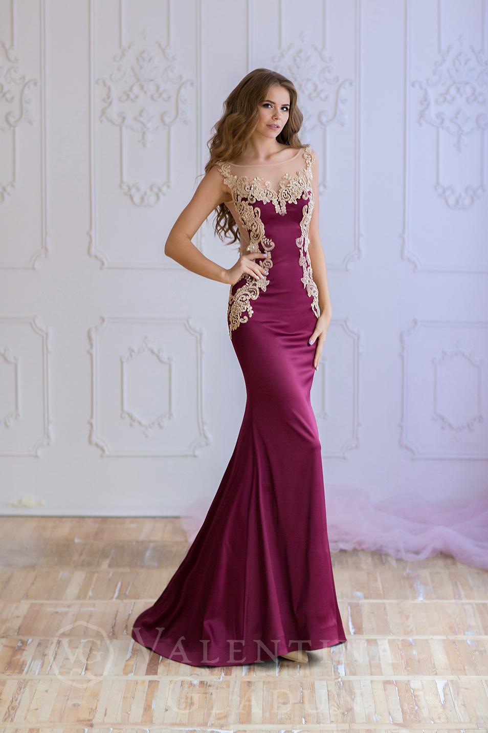 4e7ffa9ec5d Купить шикарное вечернее платье с открытой спиной Trinity Bordo ...