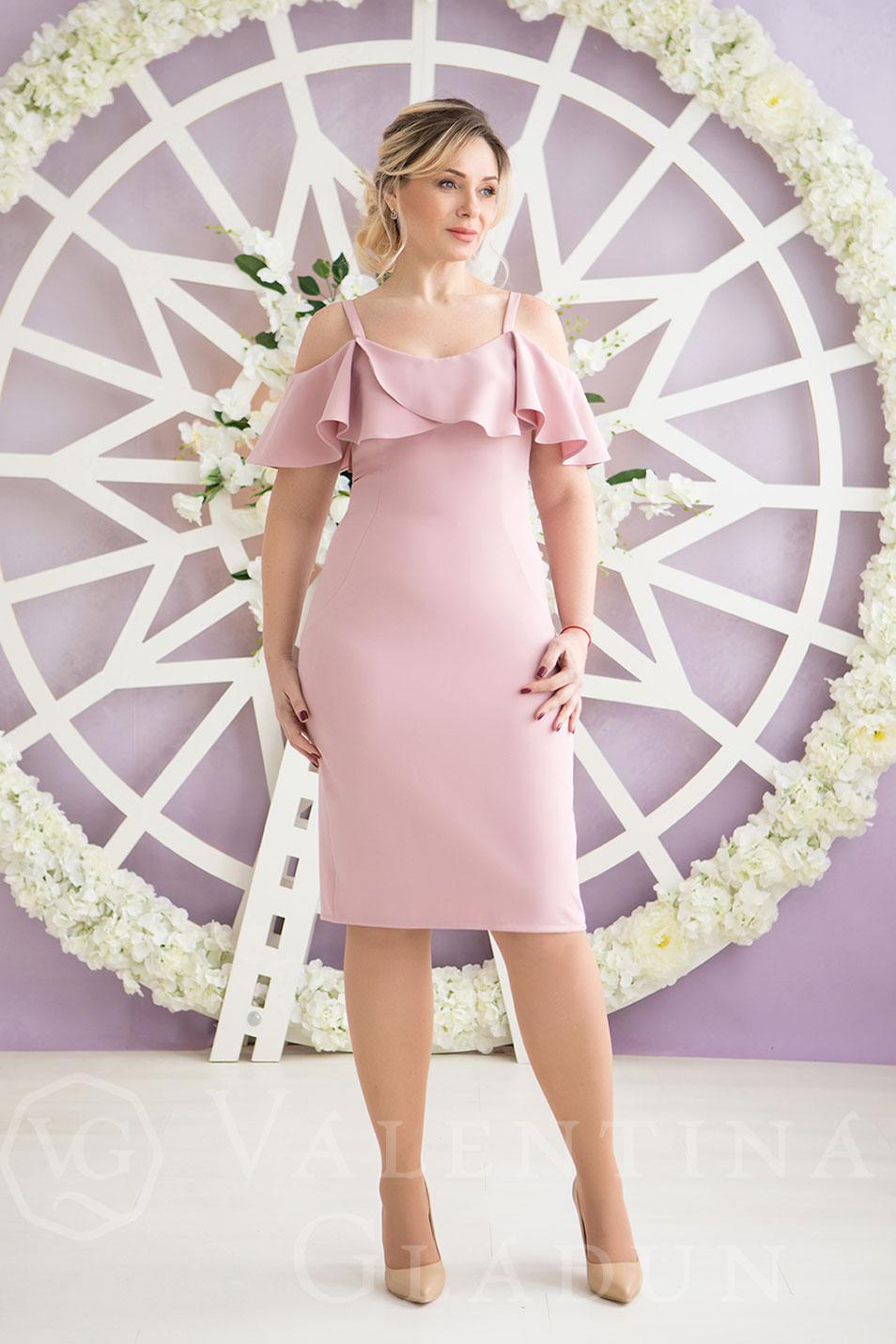 1df8e0cd0fb Вечернее платье c воланами на корпоратив Rocky  цена