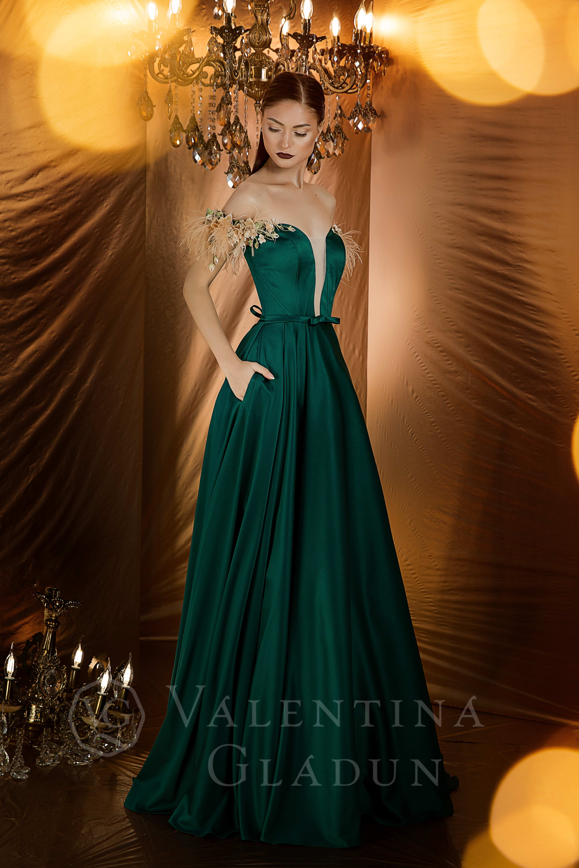 13bf231af88 Пышное вечернее платье из королевского атласа Fenix