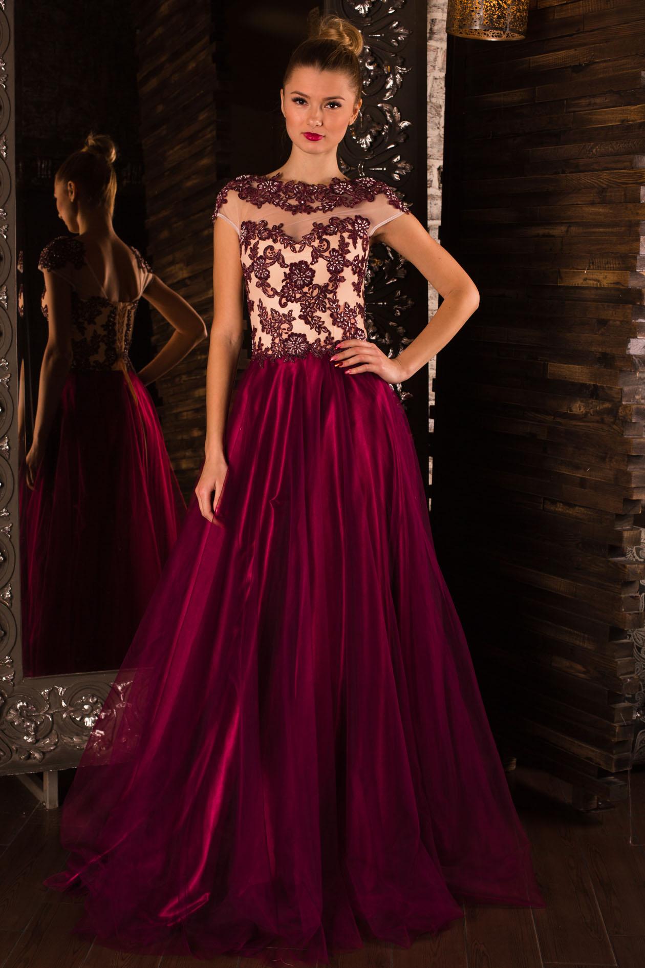 2442aa98f86 вечернее платье Navarra с элементами гипюра и ручной вышивки
