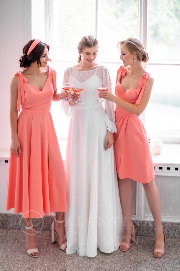 Платье Подружки Невесты Сирень На Бретельках