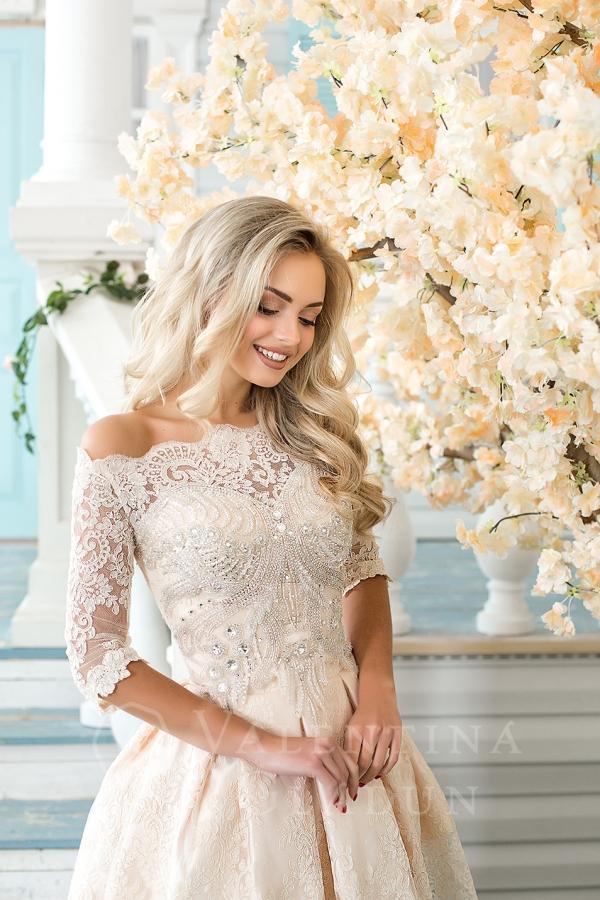 платье вышитое бисером на выпускной 2018
